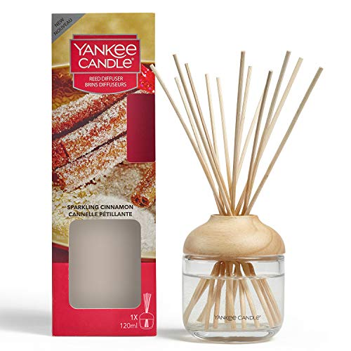Yankee Candle Reed Diffuser | Sparkling Cinnamon | 120 ml | Up to 10 Weeks of Fragrance
