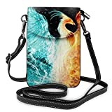 huili Unisex Fashion Purse Bolso de hombro del teléfono celular Metal Zipper Cross Body Purse Bag Suitable for Mobile Phones and Short Travel