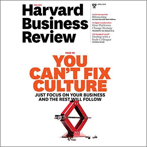 Harvard Business Review, April 2016 (English) Titelbild