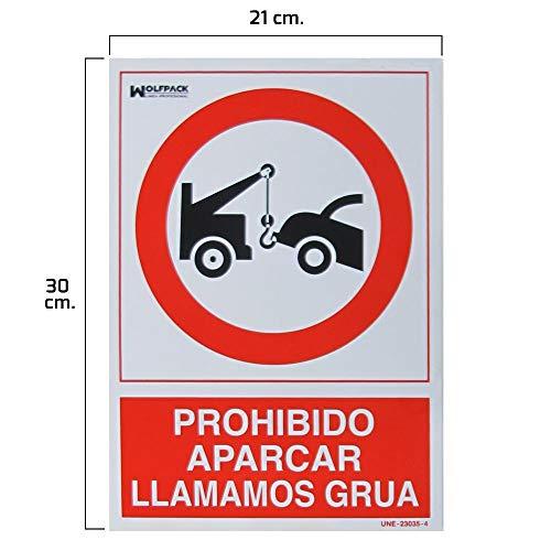 Wolfpack 15050560 Cartel Prohibido Aparcar Llamamos Grúa, 3
