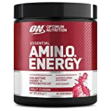Optimum Nutrition Amino Energy Pre Workout en Polvo, Bebida Energética con Beta...