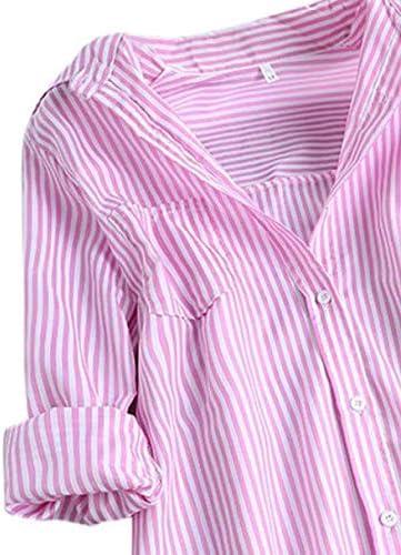 NOBRAND - Camisas de algodón a rayas de manga larga para ...