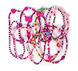 Stands Out, Supplying Outstanding Gifts 12 Colourful Wooden Jewellery Girls Necklaces Christmas and Birthday Party Bag Stocking Filler Loot