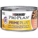 Purina Pro Plan Grain Free Senior Pate Wet Cat Food, PRIME PLUS Cod & Shrimp...