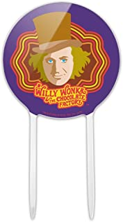 GRAPHICS & MORE Acrylic Willy Wonka and The Chocolate Factory Willy Wonka Cake Topper Party Decoration for Wedding Anniversary Birthday Graduation