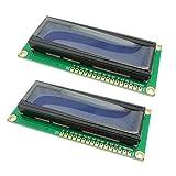 KKHMF 2個 DC 5V 1602 LCD ディスプレイモジュール 16×2キャラクタ LCDブルーブラックライト Arduino に対応 「国内配送」