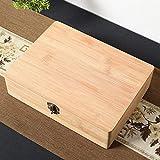 Caja de embalaje de regalo de madera de bambú caja de almacenamiento de artículos diversos de la caja caja de documentos cuadrados caja de joyería