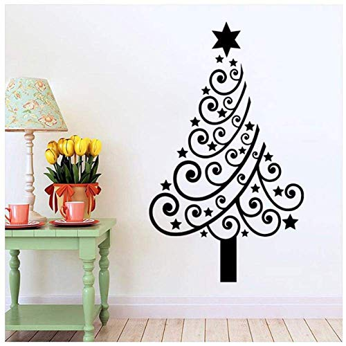 Christmas Tree Creative Wall Stickers, Used for Living Room Vacation, Home Decoration, Vinyl Wall Stickers, Window Stickers, Murals, 42X70Cm