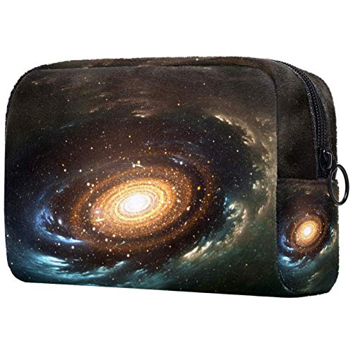 Cosmetic Bag Universe Galaxy Magical Soft Touch Large Capacit Toiletry Bag Personalized Printing MakeupTrain Case 7.3x3x5.1in