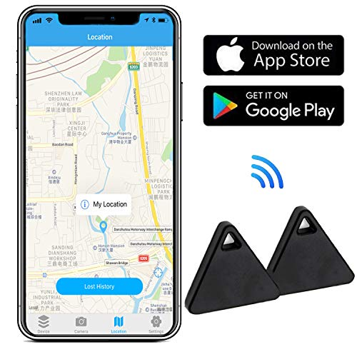 Key Finder with App for Phones - Key Finder Locator Smart Tracker Device for Keychain Wallet Purse Bag Luggage - Anti-Lost Bluetooth Phone Finder Item Finder (Pack of 2)