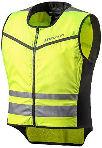 REV IT Athos 2Hi-Vis Chaleco para motocicleta, Motorcycle Rev'It! Athos 2 Safety Vest EN471, amarillo fluorescente, XXL