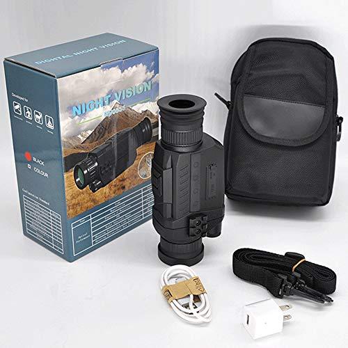 Nachtsicht Monokular Kamera 5x35 Nachtsicht Infrarot IR Kamera HD Digital Nachtsicht Zielfernrohr mit Aufnahme von Fotos und Video Wiedergabefunktion und TF-Karte für Jagd Sicherheit Überwachung
