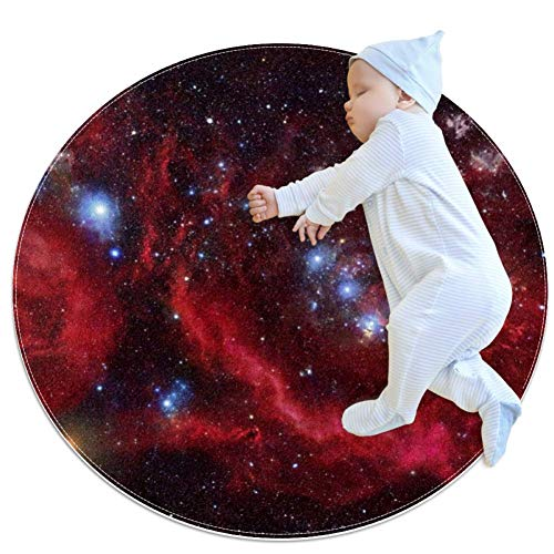 Space Nebula Galaxy Stars Baby Play Mats - Baby Crawling Mats for Boys and Girls - Children's Room Decor for Play Carpet Floor Carpets