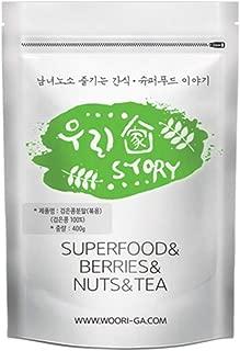Wooriga Story Korean Roasted Black Soy Bean Powder | 400g | 1 Pack, Finest Quality, Rich Savory Flavor, Easy Shakes Kit, 볶은 검은콩 가루