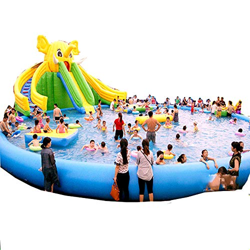 Swimming pool Piscina Inflable Gigante YUHAO(UK) - Piscina Rectangular Inflable para Familia y niños