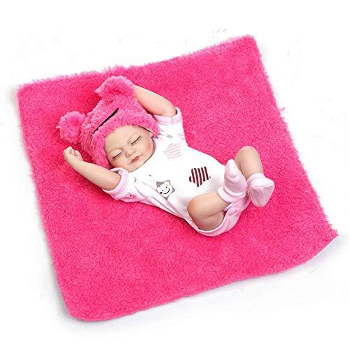 MXECO 10 muñecas de Dormir Pulgadas de Cuerpo Completo de Silicona Renacido Las muñecas del bebé Alive realistas Realista de la Vida Bebe Bebés Reborn niña Juguetes Rone