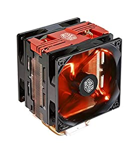 Cooler Master Hyper 212 LED Turbo Red Cover CPU Air Cooler '4 Heatpipes, 2x 120mm PWM Fans, Red LED' RR-212TR-16PR-R1
