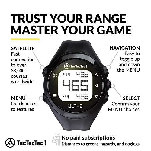 TECTECTEC ULT-G - Montre de Golf GPS légères, Simples et Facile à Utiliser avec 38 000 Parcours...
