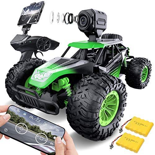 GizmoVine Ferngesteuertes Auto mit Kamera, 1:14 Hohe Geschwindigkeit RC Auto Schneller Renn Monster Buggy, Geländewagen Spielzeug für Erwachsene Kinder Jungen Mädchen ab 6 8 10 Jahren