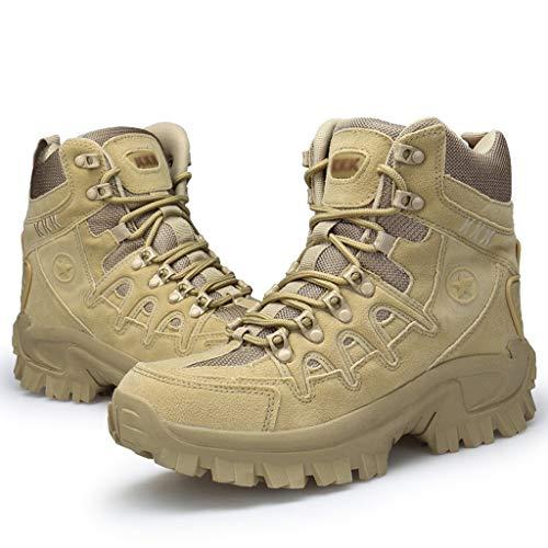 Outdoor Training Combat Boots Herren Tactical Military Boots Mountaineering Griffige Army Training Wandern Wanderschuhe Verschleißfeste Schuhe,Braun,43