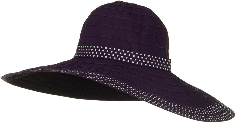 SS Sophia Polka Dot Sewn Braid Hat  Purple