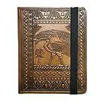 K T Design Studio Indiana Jones' Diary Prop Replica, Young Indiana Jones'Diary 6.2 x 4.5 x 1.1 Inch Honey Brown