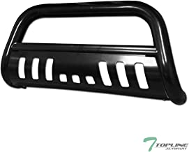 Topline Autopart Black Bull Bar Brush Push Front Bumper Grill Grille Guard With Skid Plate For 01-04 Nissan Frontier / 02-04 Xterra