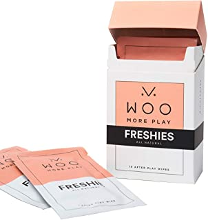Woo More Play: Freshies - 10ct - All-Natural Towelettes - Refreshing Aroma - Vitamins, Antioxidants, and Antibacterial - Promotes Healthy Skin - Reduce Risk of Inflammation/UTIs