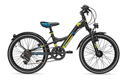 S'Cool XXlite Comp 7S 20R Kinder All Terrain Bike 2017 (28cm, Schwarz/Blau/Lemon)