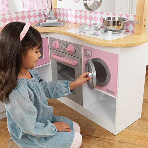 KidKraft 53185 Grand Gourmet Eck-Spielküche, rosa & weiß - 6