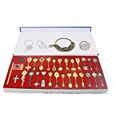 Fairy Tail key Blade 29pcs keychain Necklace Pendant Cosplay Collection Set
