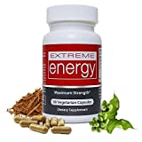Extreme Energy Pills - Smooth, Fast-Acting Energy Supplement That Works - Less Fatigue, More Focus, No Crash or Jitters + 100% Natural Ingredients Ginseng, Yohimbe, Eleuthero - Herbal Nitro