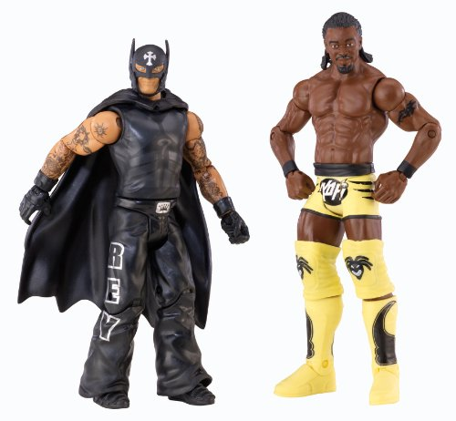 WWE REY MYSTERIO vs KOFI KINGSTON BATTLEPACK FIGURES