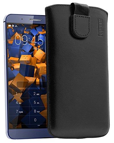 mumbi Echt Ledertasche kompatibel mit Huawei Shotx Hülle Leder Tasche Hülle Wallet, schwarz