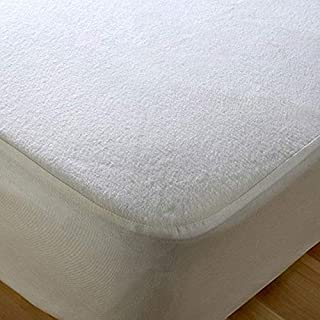 Mattress protector color White size 120cm x 200cm