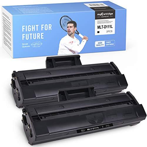 myCartridge SUPRINT 2 kompatibel Toner für Samsung Xpress m2026w Schwarz für Samsung MLT-D111L MLT-D111S für Samsung Xpress M2070FW M2070W M2070 Xpress M2026W M2026 Xpress M2020 M2020W M2022W M2022