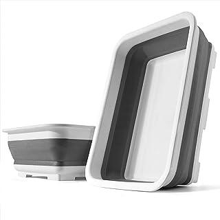 SOLPEX 洗い桶 折りたたみ 台所 おけ 抗菌 洗い桶 シリコン キッチン 収納 省スペース 洗濯 掃除 バス トイレ 食器の付け置き アウトドア キャンプ バーベキュー 浸け置き 洗い持ち運び 内外に適用 多機能 安全素材