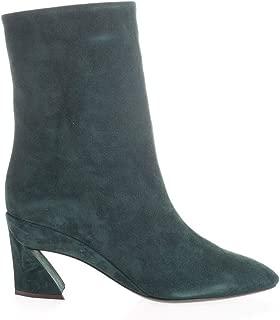 SALVATORE FERRAGAMO Luxury Fashion Womens 01Q480 Green Ankle Boots | Fall Winter 19