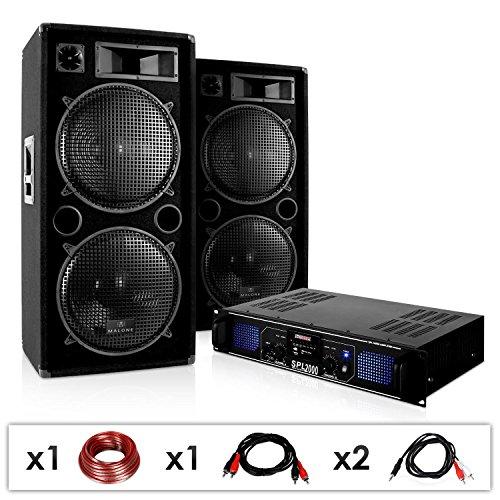 Sistema Sonido DJ-42 3000W Altavoces Amplificador