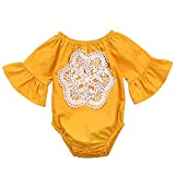 Floral Newborn Kid Baby Girl Infant Romper Jumpsuit Bodysuit Clothes Outfit 0-24 M (12-18 Months, A~Yellow)