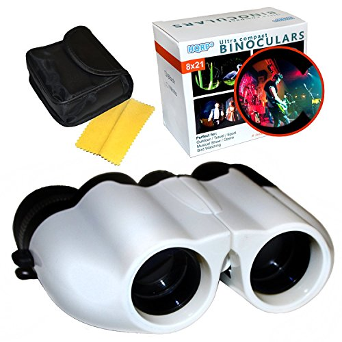 HQRP 8x21 Jumelles Blancs pour Spectacles musicaux, Cirque, parades, Performance, Camping, Chasse