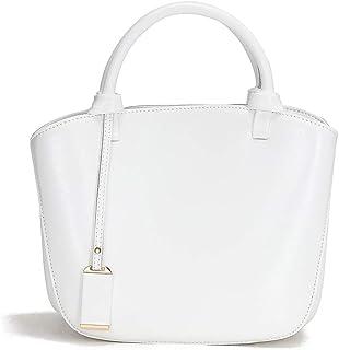 Genuine Leather Handbag Womens Retro Middle Size Tote Shoulder Bag