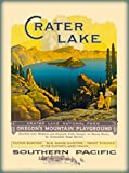 A SLICE IN TIME Crater Lake National Park Oregon Southern Pacific Railroad Vintage United States Travel Wall Decor Advertisement Poster. 10 x 13.5 inches.
