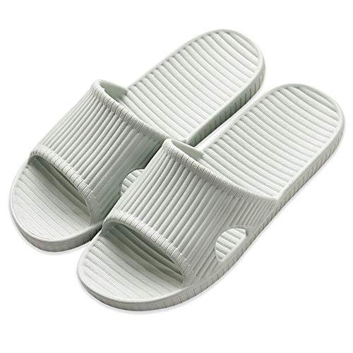 Zapatillas Unisex Antideslizantes Zapatillas con Suela de Espuma Ultraligera para Interior, Exterior, baño, jardín y Piscina (Verde EU38-39)