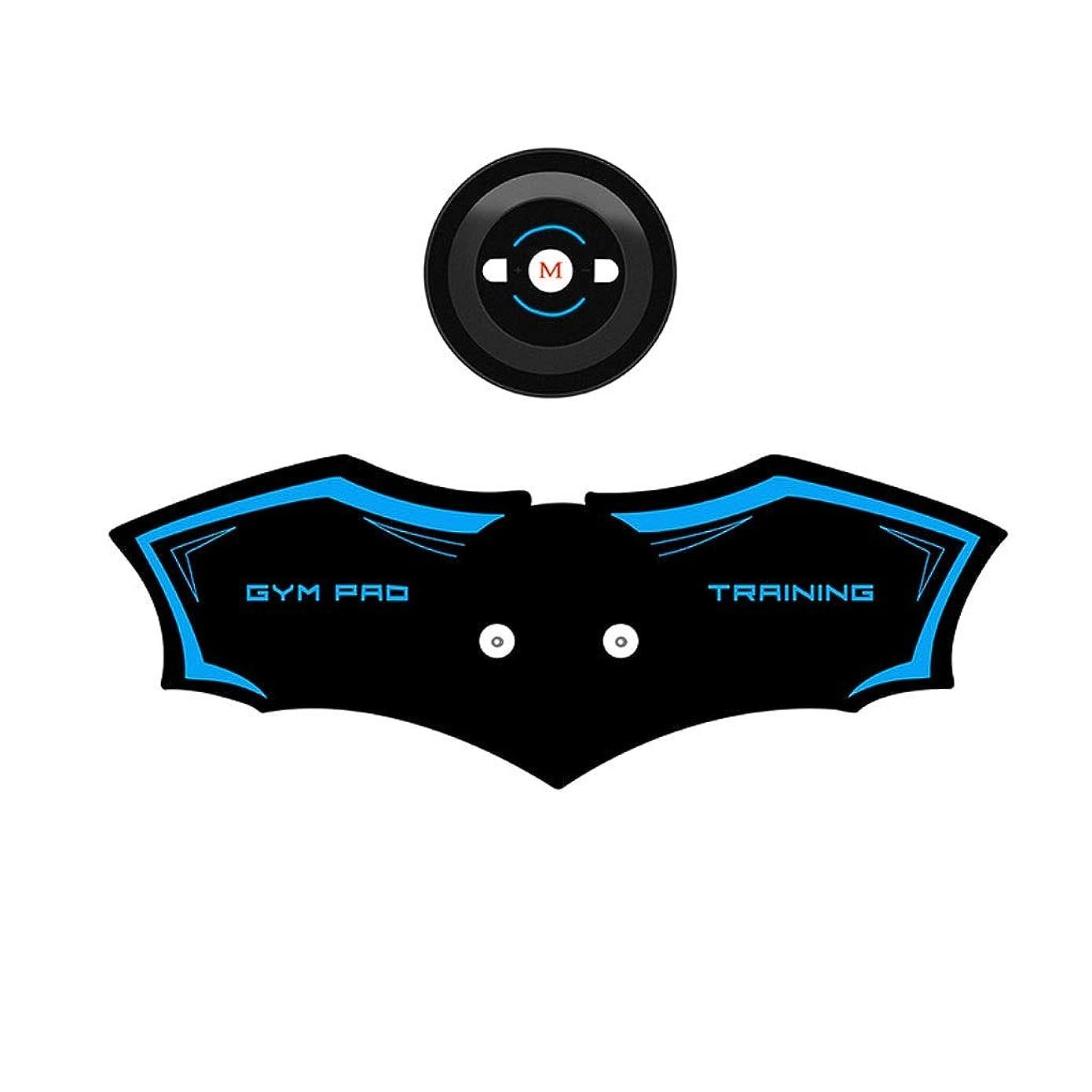 カメ人口社説ABSトレーナーEMS筋肉刺激装置付き - USB充電式究極腹部刺激装置付きリズム&ソフトインパルス - ポータブル筋肉トナーで簡単な操作 (Color : Blue, Size : A)