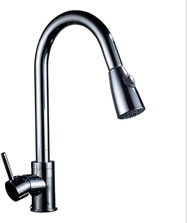 Kitchen Sink Taps Bathroom Taps Kitchen Faucet Pull-Type Cold and Hot Water Bathroom Washbasin Sink Sitting redation
