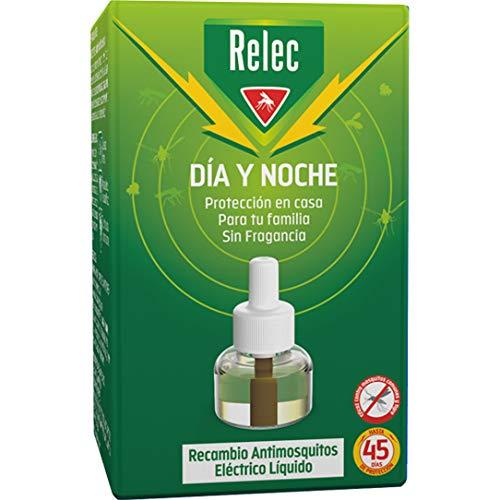 Relec Día y Noche - Recambio Antimosquitos Eléctrico Líquido - 45 noches...