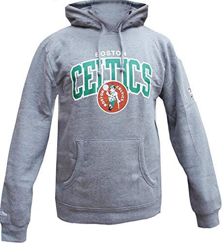 Mitchell & Ness Boston Celtics HWC Arch Logo Hoody Grey Hoodie Sweater Herren Mens