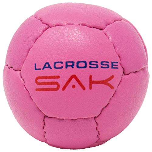 2 Pack Pink Lacrosse Sak Lacrosse Training Balls. Same Weight & Size as a Regulation Lacrosse Ball. Great for Indoor & Outdoor Practice. Less Bounce & Minimal Rebounds