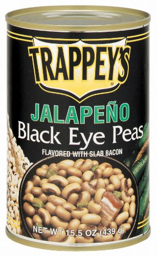 Trappey's Jalapeno Black eye Peas , With Slab Bacon, 15.5-Ounces (Pack of 6)
